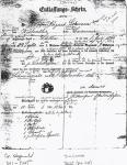 August Lohman - German Military Discharge paper